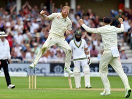 Ben Stokes celebrates a wicket at Trent Bridge