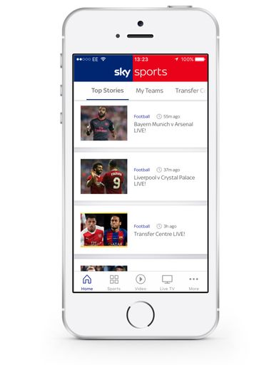 Mobile Apps from Sky Sports