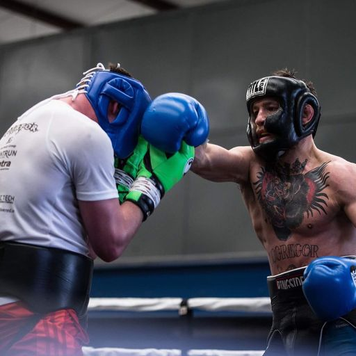 Sparring with McGregor