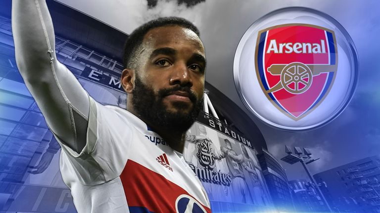Lyon striker Alexandre Lacazette has been linked with a move to Arsenal