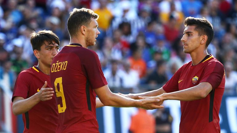 Edin Dzeko has scored 12 goals for Roma this season