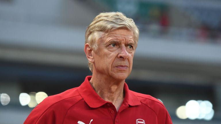Arsene Wenger during a pre-season friendly between Bayern Munich and Arsenal