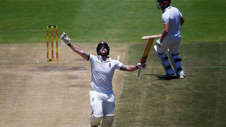 Ben Stokes scored a double century against South Africa in Cape Town in January 2016