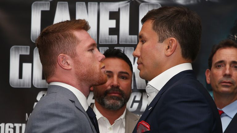 Canelo Alvarez and Gennady Golovkin go head to head at a press conference in London