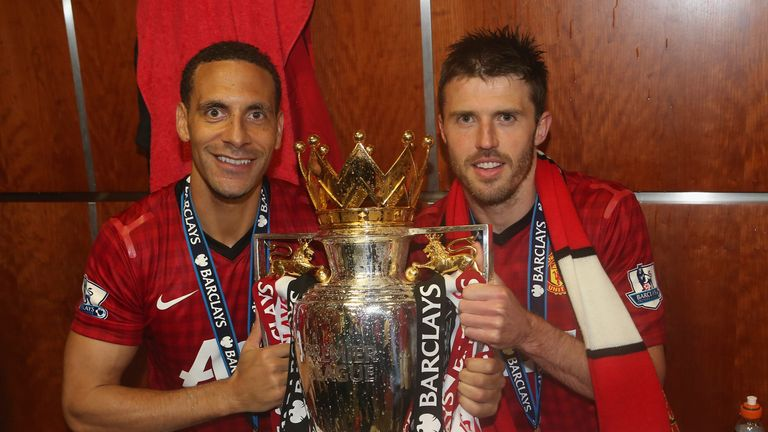 Carrick won his fifth Premier League title in 2012/13