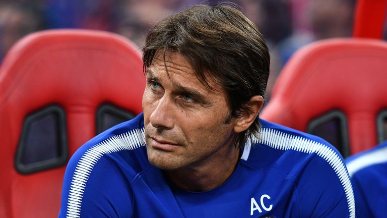 Antonio Conte watched Chelsea lose 3-2 to Bayern Munich in Singapore