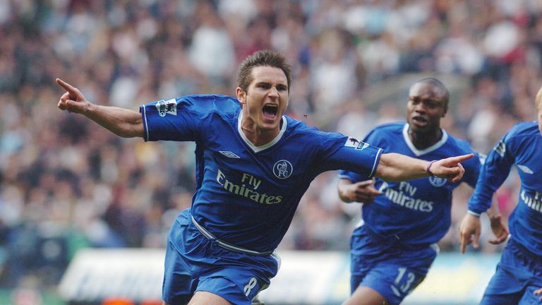 Frank Lampard understood the importance of vision at an early age