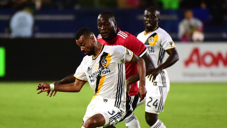 Cole featured for LA Galaxy against Manchester United in a friendly last weekend
