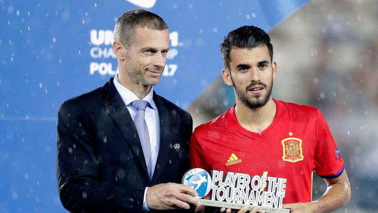 Ceballos was awarded Player of the Tournament at Euro 2017