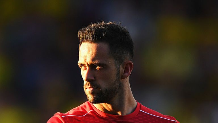 Danny Ings of Liverpool looks on prior to the EFL Cup second round match between Burton Albion and Liverpool
