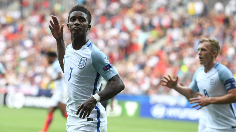 Demarai Gray scored twice for England's U21s at the recent Euros
