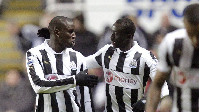 Senegalese duo Demba Ba and Papiss Cisse, pictured here in December 2012, were popular figures during their time on Tyneside