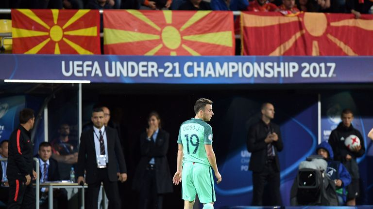 Diogo Jota represented Portugal at the the U21 European Championships this summer