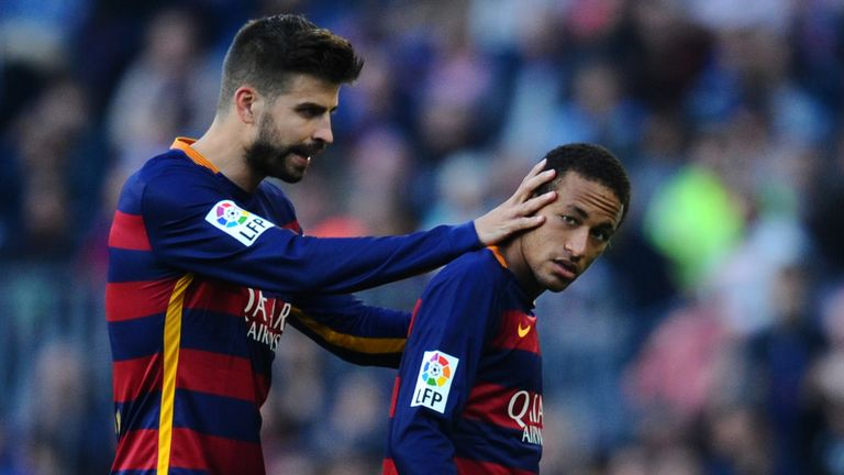 Gerard Pique and Neymar have been team mates for the last four seasons
