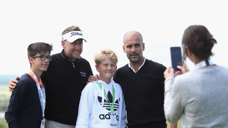 Ian and Luke Poulter met Pep Guardiola at Wednesday's pro-am