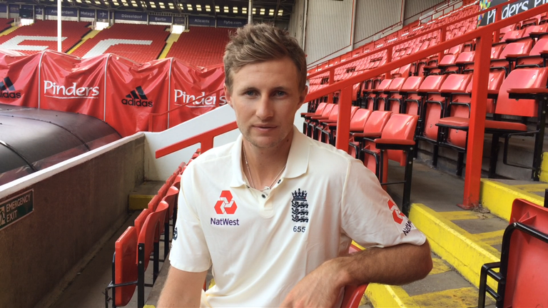 Joe Root pictured at Bramall Lane ahead of his first Test as England captain