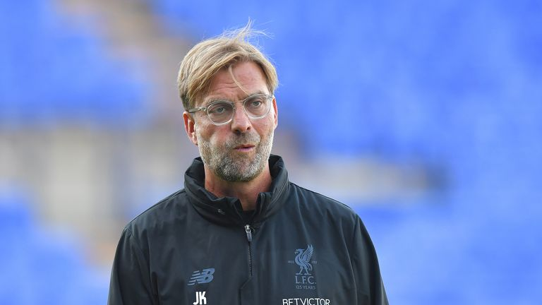 Liverpool manager Jurgen Klopp during the pre-season friendly at Prenton Park, Tranmere.