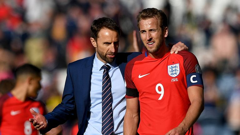 Harry Kane was handed the England armband by manager Gareth Southgate for the games against France and Scotland this year