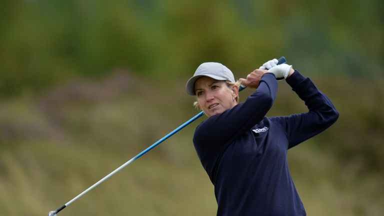 Karrie Webb finished in a tie for second alongside Hur Mi-Jung
