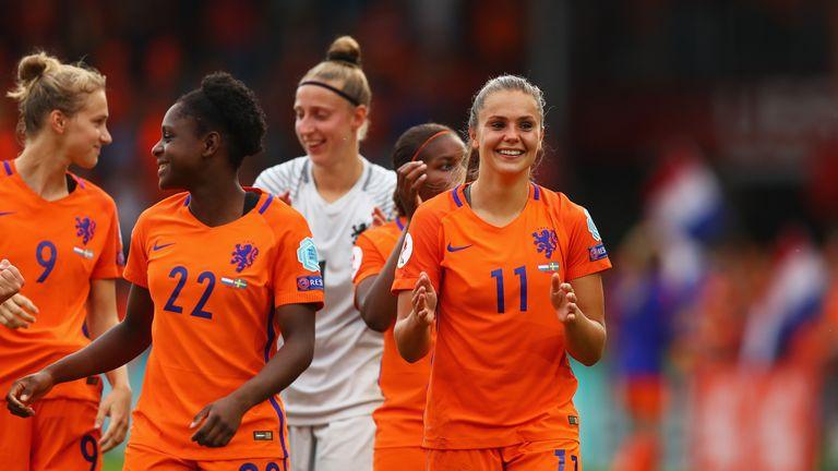 DOETINCHEM, NETHERLANDS - JULY 29:  Lieke Martens of the Netherlands celebrates victory during the UEFA Women's Euro 2017 Quarter Final match between Nethe