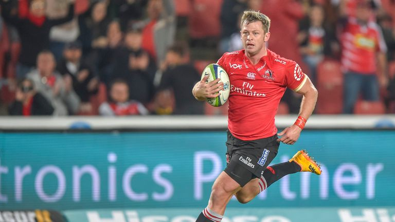 Lions wing Ruan Combrinck's late penalty sealed victory over the Sharks