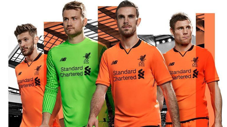 adef7eb17bf Liverpool release bright orange third kit for 2017/18 | Football ...