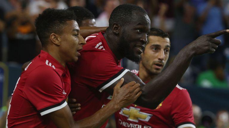 Romelu Lukaku celebrates his opening goal