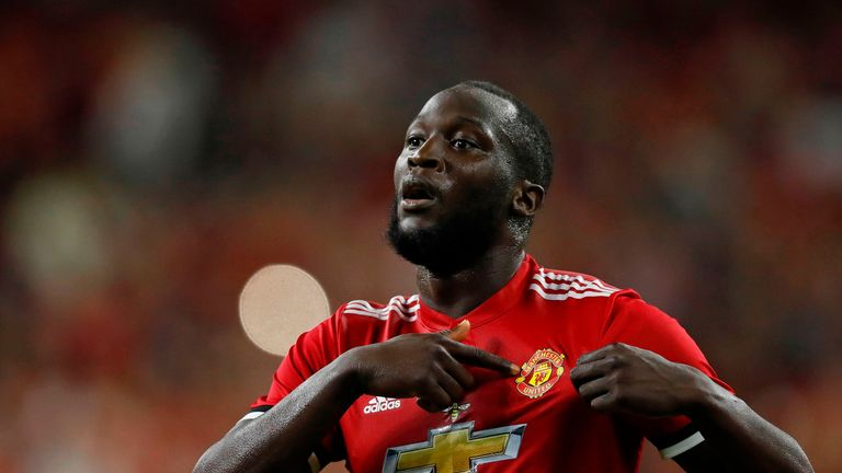 Romelu Lukaku scored during Manchester United's 2-1 friendly win against Real Salt Lake in the US last week