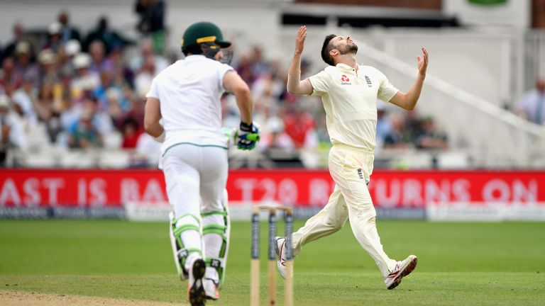 Mark Wood took just one wicket before injury cut his series short