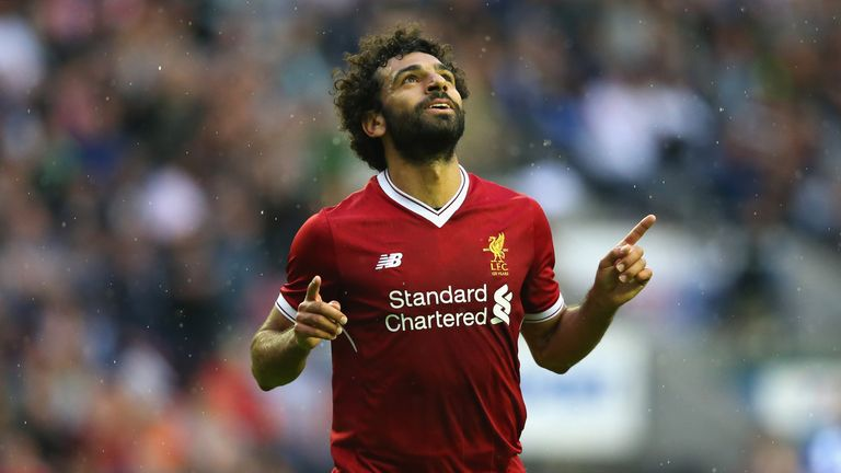 Mo Salah netted on his Liverpool debut at Wigan