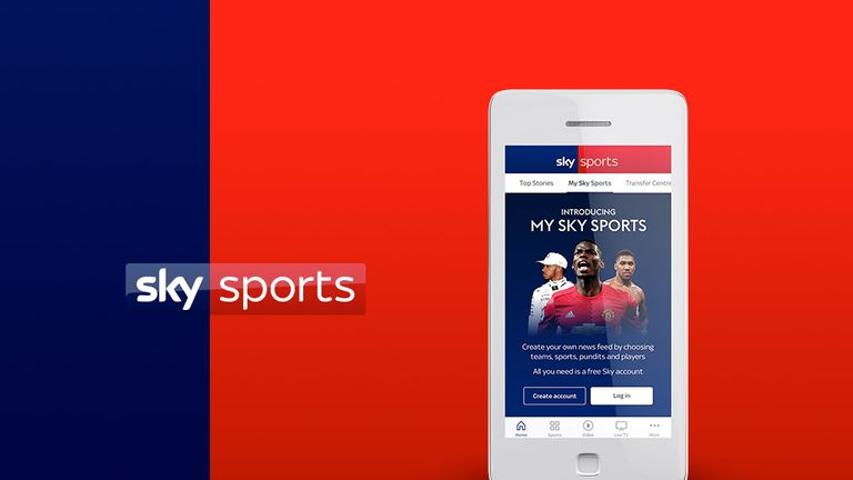 Sky Sports app 'My Sky Sports' feature