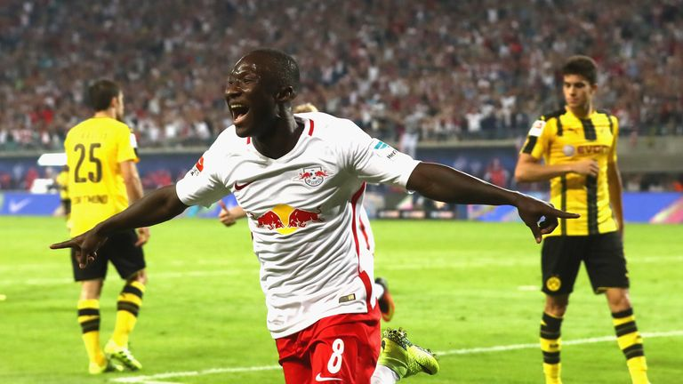 Naby Keita scored on his RB Leipzig debut against Borussia Dortmund