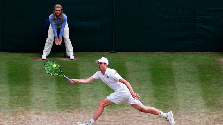 Querrey will next face Marin Cilic having reached the last four of a major for the first time
