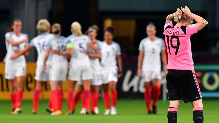 Scotland were thumped 6-0 by England in the group stages of Euro 2017