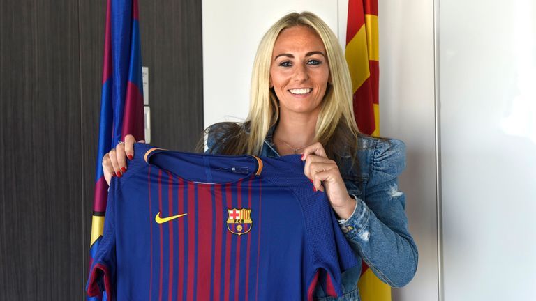 Toni Duggan, who has recently signed for Barcelona, could come up against some new club team-mates when England take on Spain