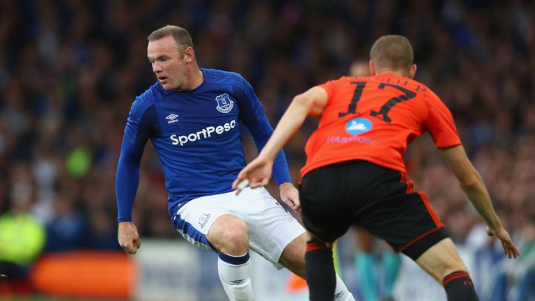 Wayne Rooney made his first competitive start since rejoining Everton