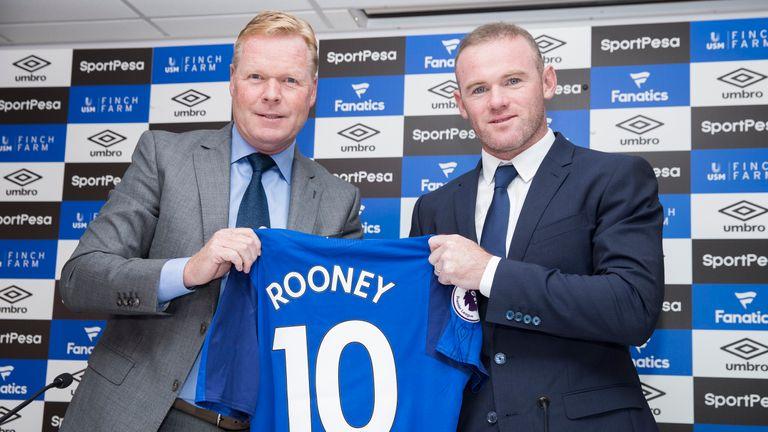 Rooney spoke to the press alongside Ronald Koeman at Goodison Park