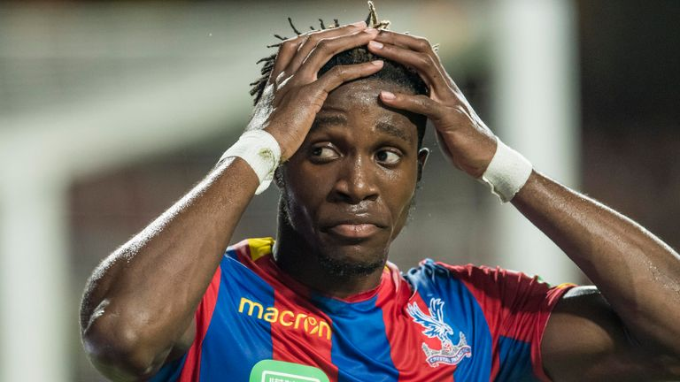 Wilfried Zaha is expected to return soon from a knee injury