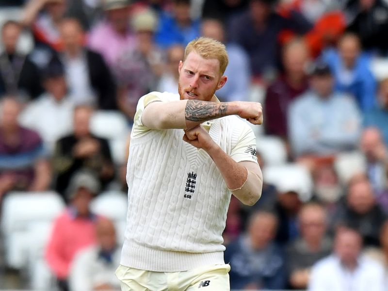 Ben Stokes wasted a review, but did take a couple of wickets for England