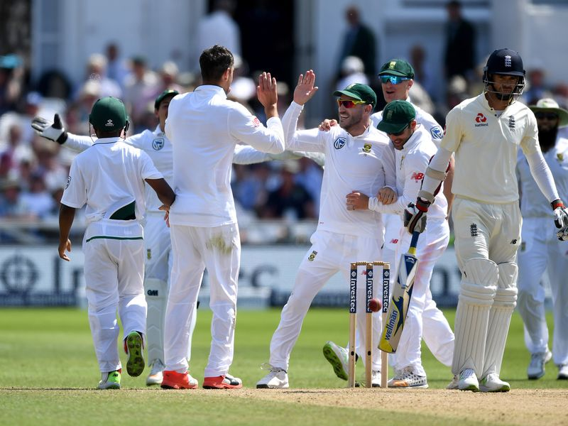 England collapsed to 133 all out, James Anderson the last wicket to fall