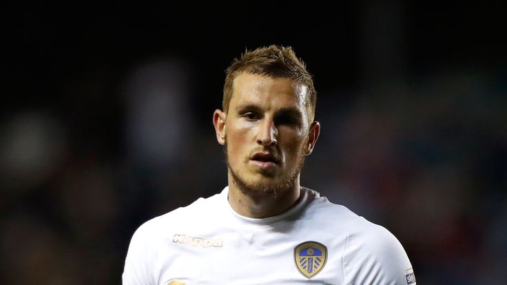 Leeds United's Chris Wood during the Sky Bet Championship match against Fulham at Elland Road