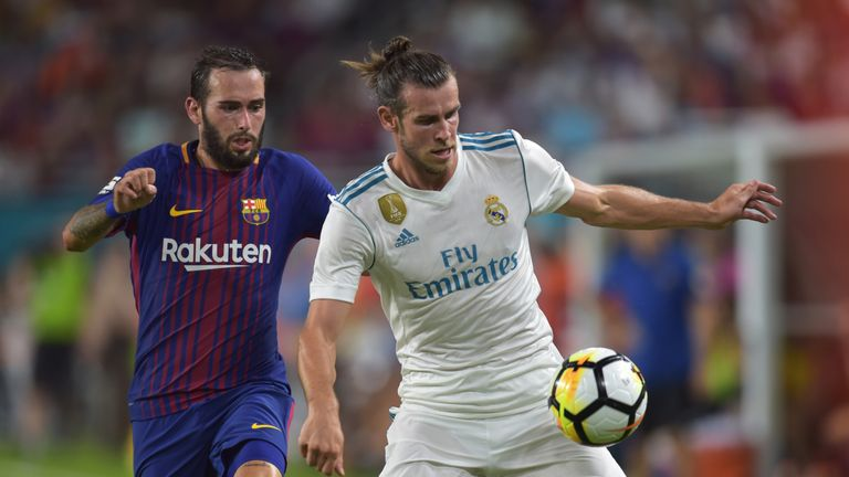 Gareth Bale (R) is set to lead the line for Real Madrid alongside Karim Benzema with Cristiano Ronaldo absent