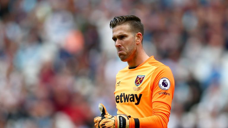 West Ham goalkeeper Adrian is wanted by Newcastle