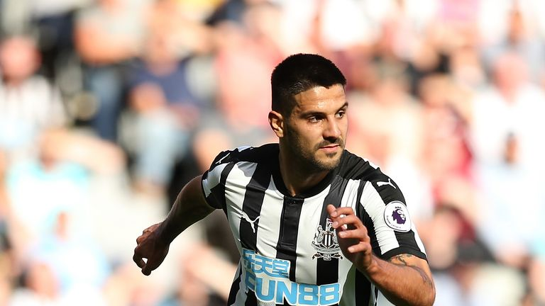Mitrovic signed for Newcastle from Anderlecht in 2015