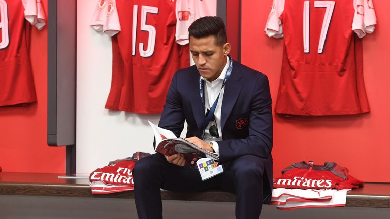 Alexis Sanchez sat out Arsenal's Community Shield win over Chelsea