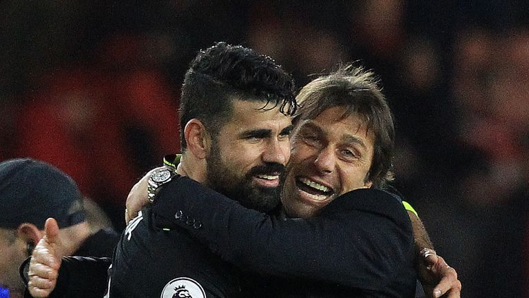 Diego Costa feels Chelsea boss Antonio Conte has disrespected him