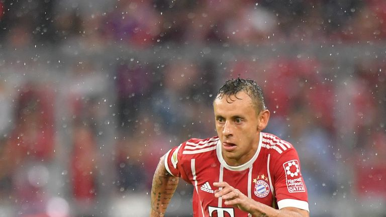 MUNICH, GERMANY - AUGUST 18: Rafinha of FC Bayern Muenchen plays the ball during the Bundesliga match between FC Bayern Muenchen and Bayer 04 Leverkusen at