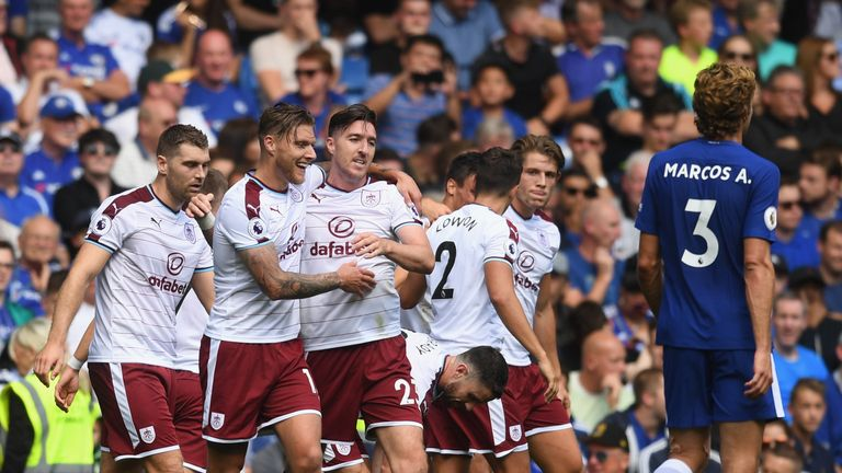 Burnley produced the shock result of the first Premier League weekend by beating champions Chelsea