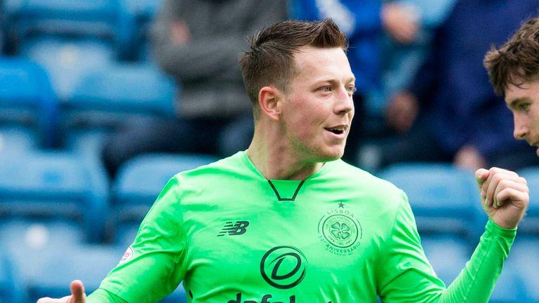 Callum McGregor celebrates scoring Celtic's second goal