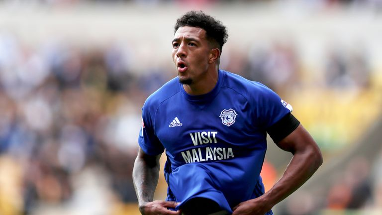 Nathaniel Mendez-Laing celebrates his winner in the 2-1 victory over Wolverhampton Wanderers